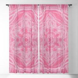 Elegant hot-pink kaleidoscopes Sheer Curtain