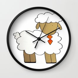 The Sheep Familly Wall Clock