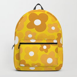 Yellow Sunshine Flower Power Backpack