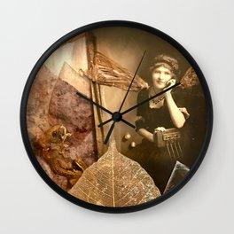 I Dream in  Black & White Wall Clock