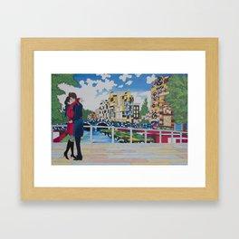 Lovers in Amsterdam Framed Art Print