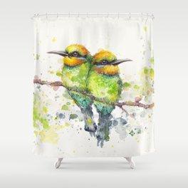 Family (Rainbow Bee Eaters) Shower Curtain