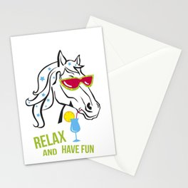 Funny horse Stationery Cards
