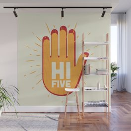 Hi five Wall Mural