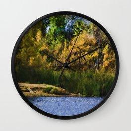 Along the lake Wall Clock