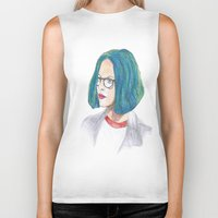 ghost world Biker Tanks featuring Ghost World by holy crow