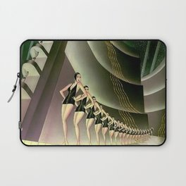 'We Came Here to Shine' - Billy Rose's Acquacade Art Deco 1920's Theatrical Portrait Laptop Sleeve
