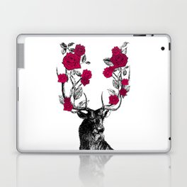 The Stag and Roses   Red Laptop & iPad Skin
