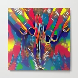 9978s-KD Abstract Yoni Pop Color Erotica Explicit Psychedelic Self Love Metal Print