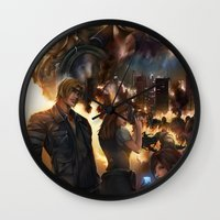 resident evil Wall Clocks featuring Resident Evil 6 by Dr-Salvador