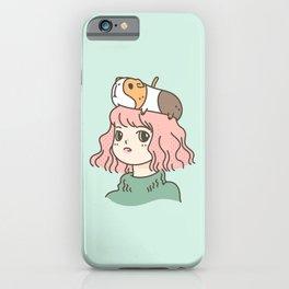 Guinea Pig Lady iPhone Case