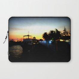 Night lights as Dusk settles over the Esplanade in Lakes Entrance - Australia Laptop Sleeve
