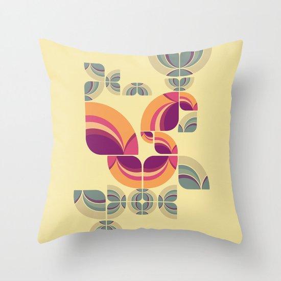 Vintage Pattern Peacock Throw Pillow