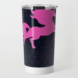 Visible Invisible Pink Unicorn Travel Mug