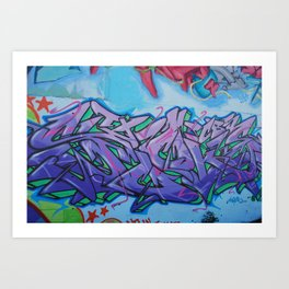 Santa Fe Grafitti Art Print