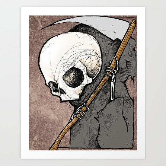 Death scribble Art Print