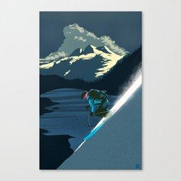 Retro Revelstoke ski poster Canvas Print