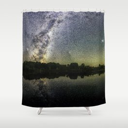 Henry Lake New Zealand Under Southern Hemisphere Skies By Olena Art Shower Curtain