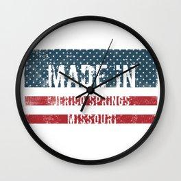 Made in Jerico Springs, Missouri Wall Clock