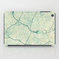 austin iPad Cases featuring Austin Map Blue Vintage by City Art Posters