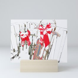 Sleds in the Snow Mini Art Print