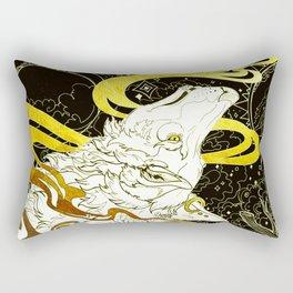 Golden wolf Rectangular Pillow