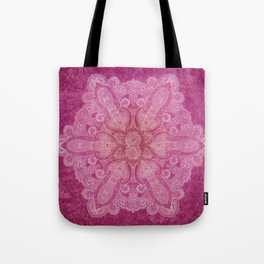 Big paisley mandala in raspberry Tote Bag