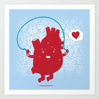 Cardio Ambition Art Print