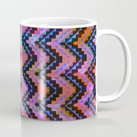 southwest Mugs featuring Southwest Chevron by Schatzi Brown