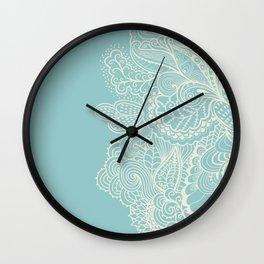 Abstract nature organic lines illustration Wall Clock
