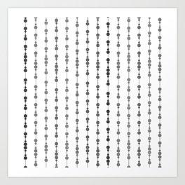 Multi-faceted decorative lines 15 Art Print