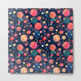Footprints on the Moon - fun and original whimsical pattern Metal Print
