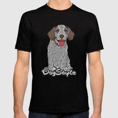 Dog Style Black MEDIUM Mens Fitted Tee