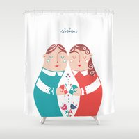 sister Shower Curtains featuring Sister by Michela Gaburro