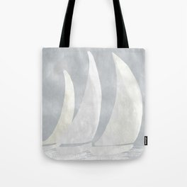 Sailboat Race, Sailing Art, Nautical Art Tote Bag