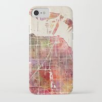 miami iPhone & iPod Cases featuring Miami by MapMapMaps.Watercolors