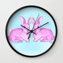 Pink Ink Wall Clock