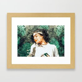 Rest #painting #tropical Framed Art Print