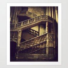 A Hogwarts Staircase Art Print