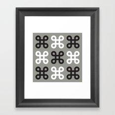 Monotone loops Framed Art Print