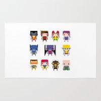 x men Area & Throw Rugs featuring Pixel X-Men by PixelPower