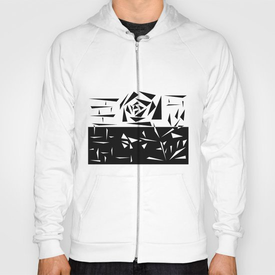 Abstract rose. black and white . 1 Hoody
