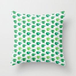 thousands of little green elephants Throw Pillow