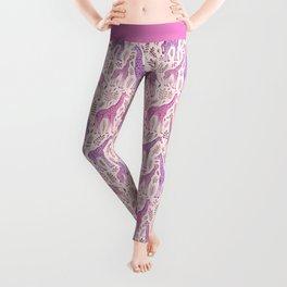 Pink Giraffe Pattern Leggings