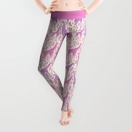 Pink Giraffe Pattern Leggings