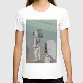 man with a man T-shirt