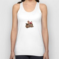 reading Tank Tops featuring Sleeping & Reading by Beati