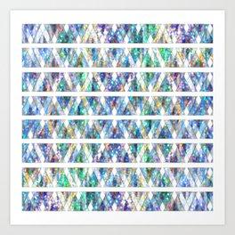 Geometric Glossy Pattern G331 Art Print
