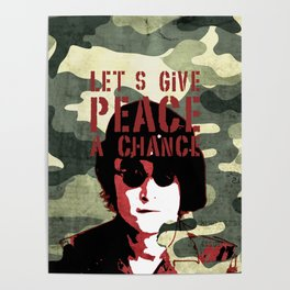 Quote - Let's give peace a chance Poster