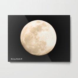 January 21, 2019 Moon Metal Print